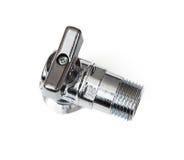 Shiny metallic valve Stock Photo