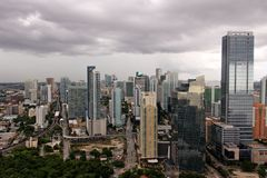 Shiny Miami under Stormclouds Stock Photography