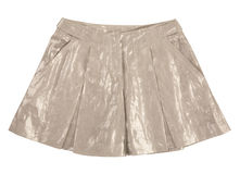 Shiny miniskirt Stock Photo
