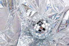 Shiny Mirrorred disco ball Royalty Free Stock Photos