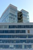 Shiny modern glass business center Royalty Free Stock Photography