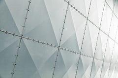 Shiny modern metal wall facade royalty free stock photos