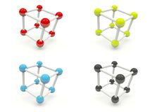 Shiny molecules Stock Photo