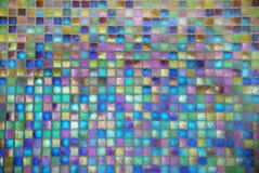 Shiny mosaic. The distorted colorful shiny ceramic tile mosaic background Royalty Free Stock Images