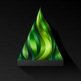 Shiny Mosaic Christmas Tree Royalty Free Stock Photo