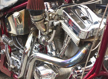 Shiny motorcycle engine Stock Photography