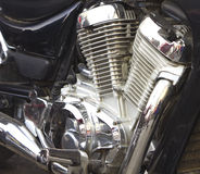 Shiny motorcycle engine Royalty Free Stock Images