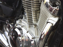 Shiny motorcycle engine Royalty Free Stock Photos