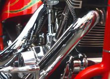 Shiny motorcycle engine Royalty Free Stock Image