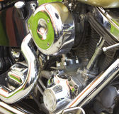 Shiny motorcycle engine Stock Photos