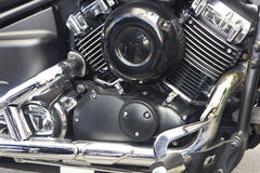 Shiny motorcycle engine Royalty Free Stock Photo
