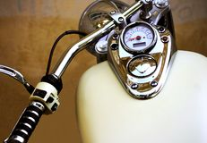 Shiny motorcycle speed-meter Stock Photography