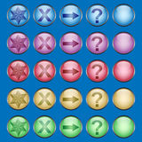 Shiny multicolored buttons. Glossy round buttons in a rainbow of colors Stock Photo