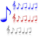 Shiny Music Notes Royalty Free Stock Image