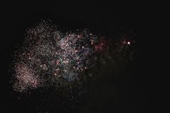 Shiny natural fireworks. On dark sky background like cloud Royalty Free Stock Images