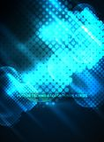 Shiny neon glowing circles, dot particles structure. Vector digital technology abstract background, backdrop for techno presentation or web banner template Stock Photos