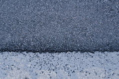 Shiny new black asphalt abstract texture background Stock Photography