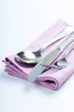 Shiny new cutlery, silverware Stock Photos