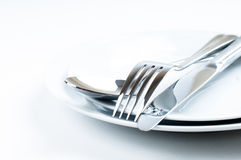 Shiny new cutlery, silverware Stock Image