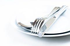 Shiny new cutlery, silverware Stock Photo