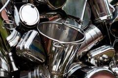 Shiny new metal utensils Royalty Free Stock Photo