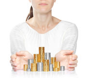 Shiny new money care concept Royalty Free Stock Photos