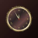 Shiny New Year Clock. Vector illustration Royalty Free Stock Image