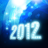 Shiny new year design. Beautiful shiny blue new year design Royalty Free Illustration