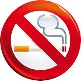 Shiny no smoking sign. Vector illustration of no smoking sign vector illustration