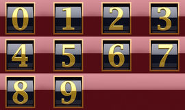 Shiny numbers Royalty Free Stock Images