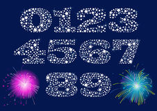 Shiny Numbers Set Royalty Free Stock Image