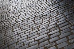 Shiny old pavement Royalty Free Stock Image