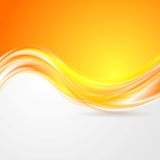 Shiny orange abstract waves Royalty Free Stock Image