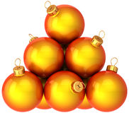 Shiny orange Christmas balls Royalty Free Stock Image
