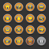 Shiny Orange Icons Set 1 - Web Royalty Free Stock Images