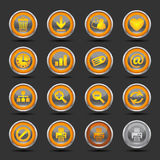 Shiny Orange Icons Set 2 - Web Royalty Free Stock Photography