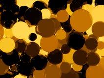 Shiny orange sphere background. Shiny orange sphere abstract background. 3D illustration Stock Images