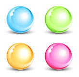 Shiny orbs. Set of four shiny orbs Stock Image
