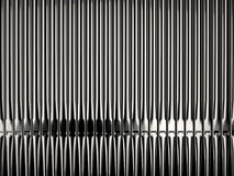 Shiny organ pipes. In church front view Stock Photos