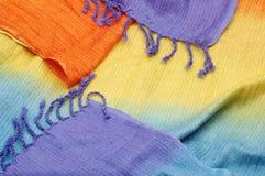 Shiny oriental vibrant woolen texture Stock Photo