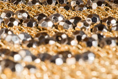 Shiny ornaments on handbag Royalty Free Stock Photo