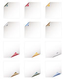 Shiny paper curls Royalty Free Stock Images
