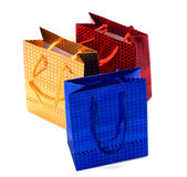 Shiny paper gift bags Royalty Free Stock Photography