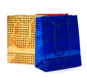 Shiny paper gift bags Royalty Free Stock Photos