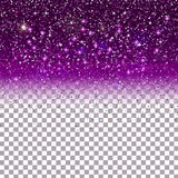Shiny Particles on Purple background Stock Photo