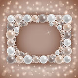 Shiny pearl frame Royalty Free Stock Photography