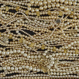 Shiny pearls closeup Stock Photo
