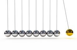 Shiny pendulums Stock Image