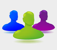 Shiny people icon design Royalty Free Stock Image