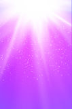Shiny pink background with rays, dots and stars Stock Photo